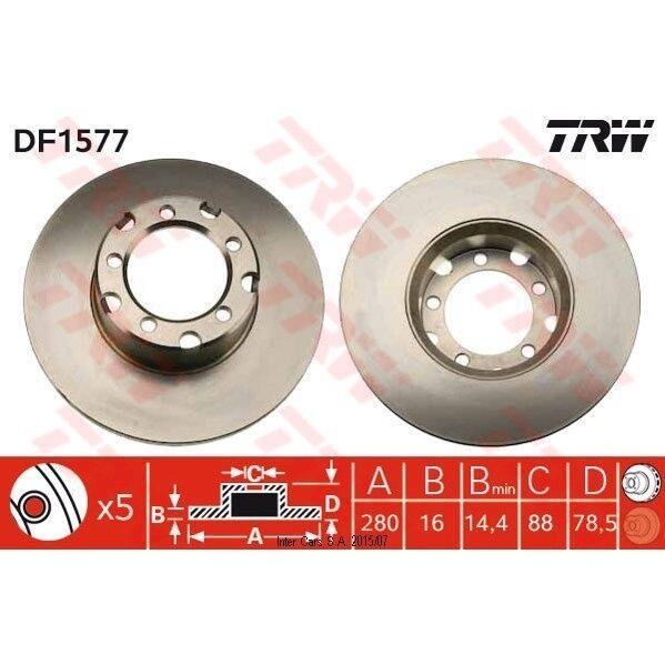 Bremsscheibe, 1 Stück TRW DF1577