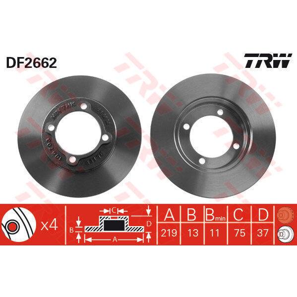 Bremsscheibe, 1 Stück TRW DF2662