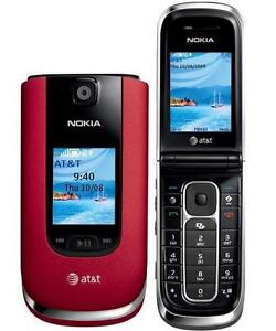 NEW IN BOX NOKIA 6350 RED AT&T WIRELESS FLIP PHONE