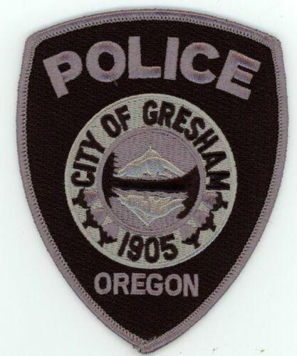 GRESHAM POLICE OREGON SUBDUED SWAT STYLE NEW PATCH SHERIFF