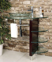 Beautiful Vanity Set Tempered glass counter top