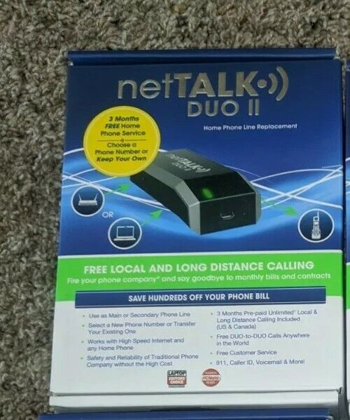 NetTalk Duo 2 Duo II Home Phone Brand New Devices **Never Opened**