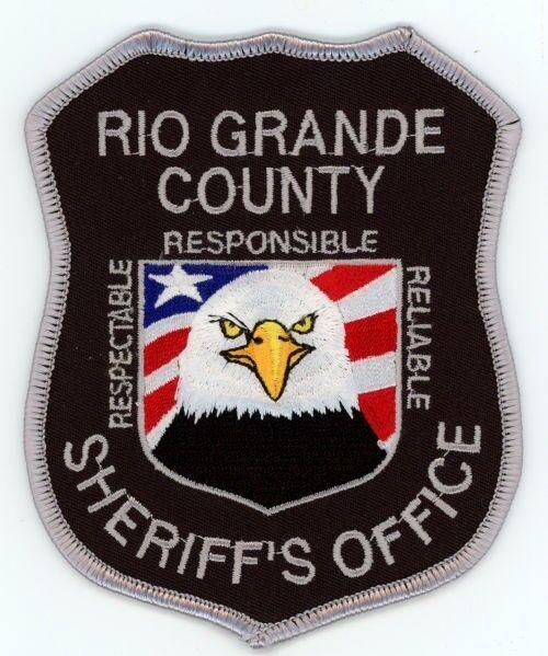 RIO GRANDE COUNTY SHERIFF COLORADO CO STYLE #1 COLORFUL PATCH POLICE EAGLE