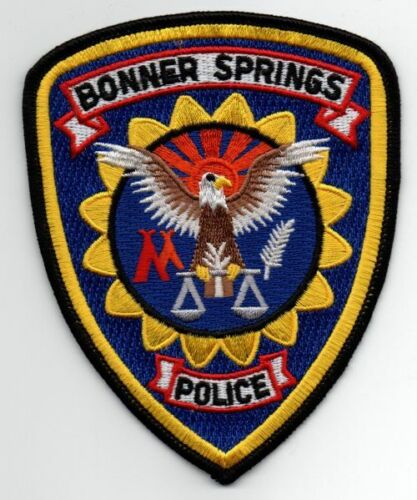 KANSAS KS BONNER SPRINGS POLICE NICE PATCH SHERIFF