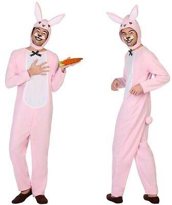Costume Uomo CONIGLIO Rosa XL Abito Animal Motivo Animato NUOVO A buon mercato