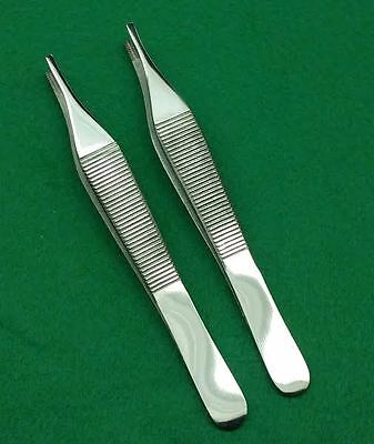Set Of 2 Each Adson Brown Forceps 4.75 9x9t Surgical Instruments