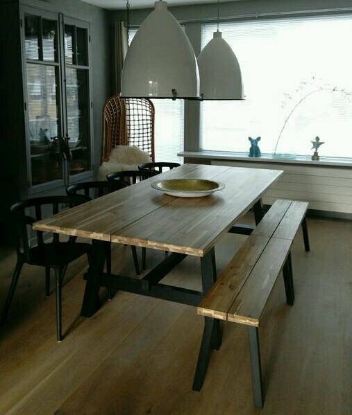 Ikea Skogsta Solid Wood Dining Table Amp 4 Ingolf Dining