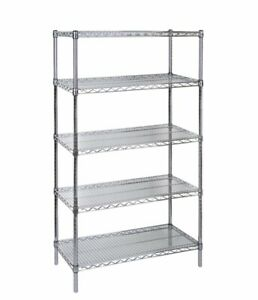 Stainless Steel Metro Rack with 5 Shelves - lightly used