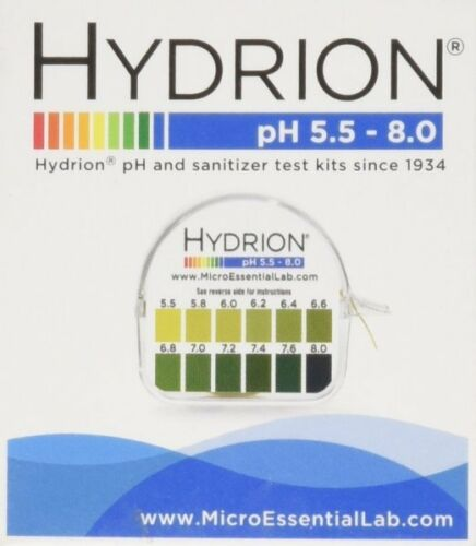 *SALE HYDRION 067 Body Acid pH TEST Tape Strip Paper Roll Urine Saliva 5.5-8.0