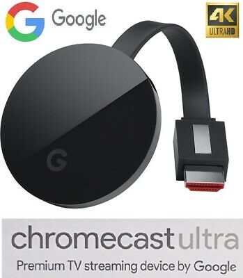 Brand new Google Chromecast Ultra 4K TV Streaming/Black