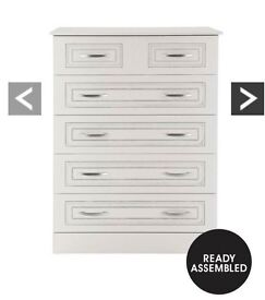 Consort Dorchester Ready Assembled 4 + 2 Chest Of Drawers