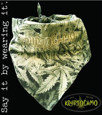 Marijuana / Weed / Pot Leaf Camo Bandana - KryptoCamo Brand in PhotoReal