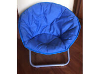 Kids Moonchair From Asda Folds Away Metal Base Fabric Seating