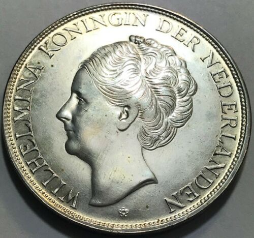 Netherlands Antilles - CURACAO - 2 1/2 Gulden - 1944D - Large Silver Coin - Br.