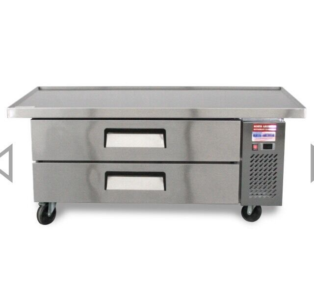 """CHEF BASE 60"""" Refrigerated Grill Stand 2 Draw Equipment Table 2 Drawer"""