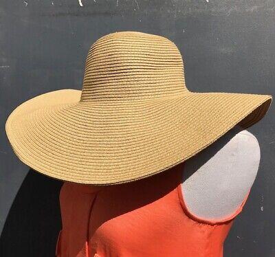 J.CREW WOMEN'S HALOGEN SUMMER LIGHT BROWN STRAW HAT-ONE SIZE