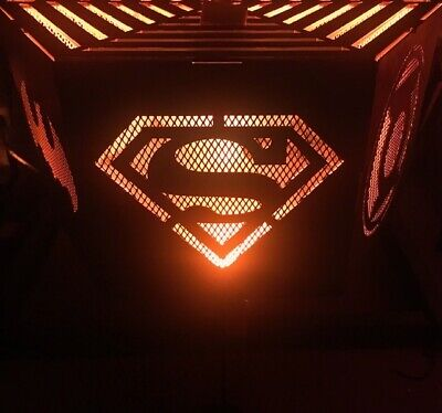 Superheroes hexagonal fire pit with top grill
