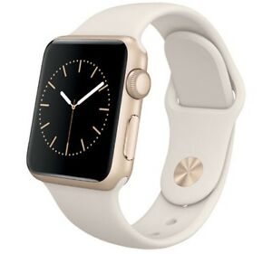 Apple Watch Sport 38mm Gold Aluminum Case with White Sport Band
