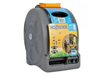 Hozelock 2415 2-in-1 Compact Enclosed Hose Reel with 25m hose Two connectors NEW Sealed RRP £69