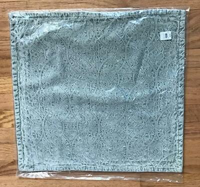 Pottery Barn Chenille Jacquard Pillow Cover 20 sq Light Blue