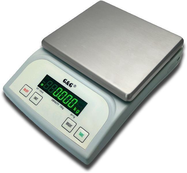 G&G KF Küchenwaage mit Netz- und Batterie, Tischwaage Feinwaage Präzisionswaage