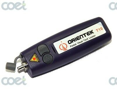 Orientek T10 10mw Visual Fault Locator Fiber Optic Cable Tester Up To 1012km