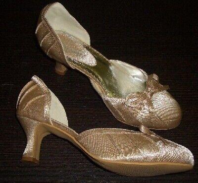 Zapatos de Novia de Satén Con Lazo Elefenbein BRIDAL Talla 39 Nuevo