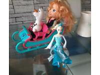 Disney Anna and elsa with sleigh
