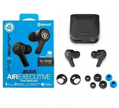 NEW JLab Audio - JBuds Air Executive True Wireless Bluetooth Earbuds Charging