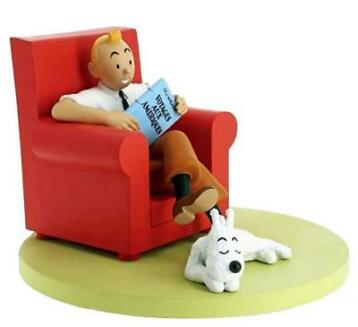 NIEUW KUIFJE in rode stoel TINTIN AND SNOWY AT HOME € 225