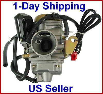 Carburetor 150cc Scooter Roketa Sunl Go-kart Free Filter Gy6 Gy-6 Carb 150 Pd24