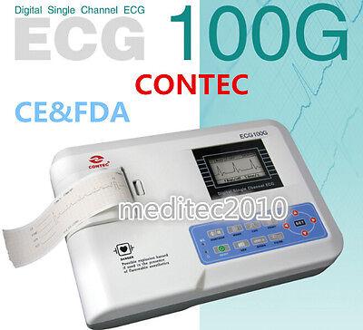Ecg100g Ecgekg Machine With Printer Digital Single Channel 12 Leads Portable