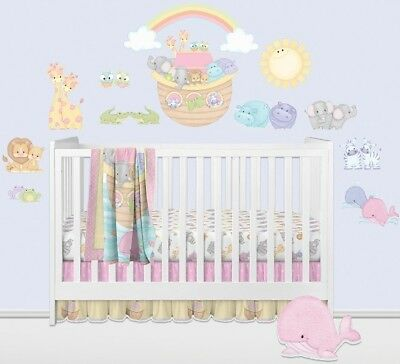 Noah's Ark Wall Decals Pastel Pairs Stickers Baby Nursery Animals Decorations](Noah's Ark Decorations)