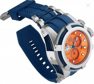 Invicta 52mm Bolt Zeus NFL OFFICIAL DENVER BRONCOS Chrono Silicone Strap Watch