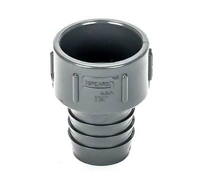 1-14-inch Pvc Insert Adapter Pipe Fitting - Barb X Ips Socket Female - Gray