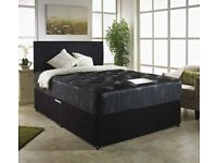 COMPLETE MEMORY FOAM SET- BRAND NEW DOUBLE / KING DIVAN BED BASE WITH ROYAL ORTHOPEDIC MATTRESS