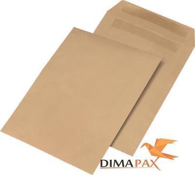 250 Versandtaschen DIN B4 250 x 353 mm Briefumschläge selbstklebend braun