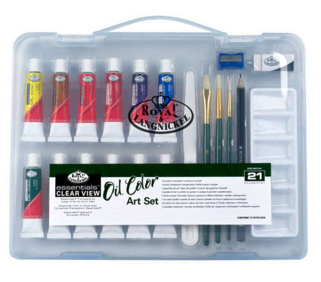 Royal Langnickel Oil Painting Set - Sm Clear Case         (RSET-ART3101)
