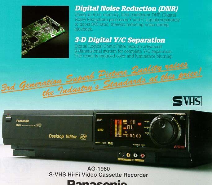 Panasonic AG-1980 S-VHS SVHS Super VHS Player Recorder Deck PRO Editing TBC VCR