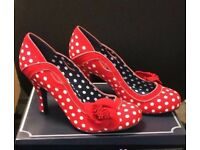Ruby Shoos brand new. Red and white polka dot