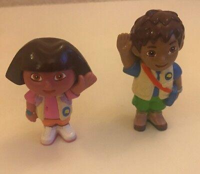 "Dora The Explorer & Diego - 3"" tall - Figures - 2003 - Mattel"