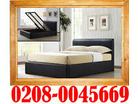 **Free Express Delivery**Kingsize Storage Leather Bed Single Double/King Size Bed