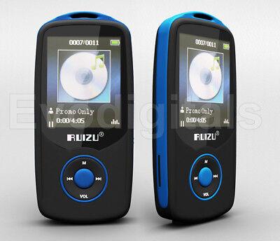 NEW BLUE RUIZU 68GB BLUETOOTH SPORTS LOSSLESS MP3 MP4 PLAYER MUSIC VIDEO FM +