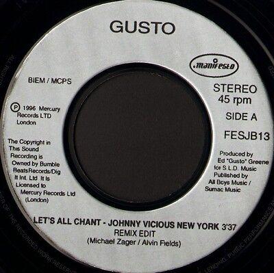 Gusto Lets All Chant 7  Ws Ex  Jukebox Promo Manifesto Fesjb 13