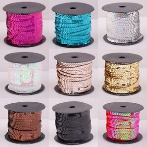 1Roll-9-Colors-Sexy-Shiny-Plastic-Sequin-Paillette-Cord-For-Clothing-Accessories