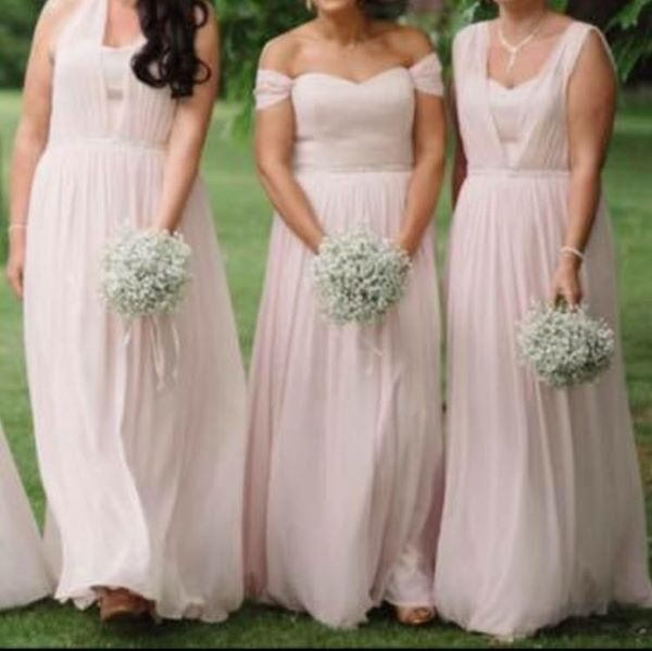 Dessy Collection Bridesmaid Dress 6768 Blush Size 10 12