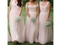 Dessy Collection Bridesmaid Dress 6768 - Blush - Size 10-12