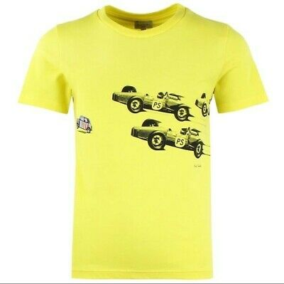 Paul Smith Junior Car race Yellow shirt Boys size 16 A New with tag