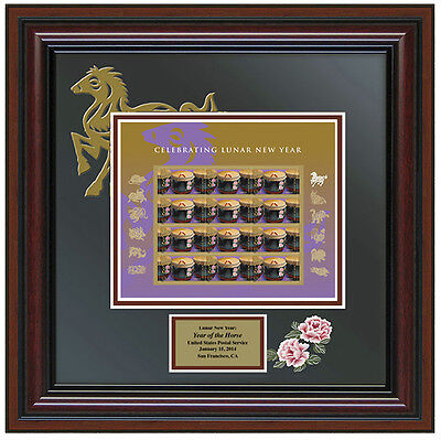 USPS New Lunar New Year: Year of the Horse Stamp Framed Art