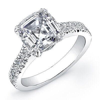 2.46Ct Asscher Cut Diamond Engagement Ring G, VS1 (GIA)